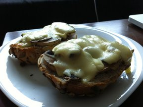 Shrooms on Sunflower Bread