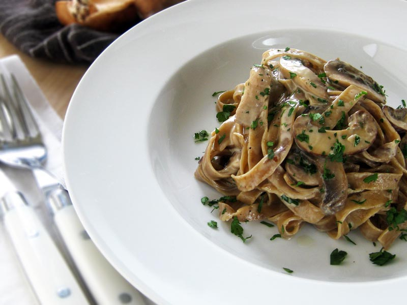 Fettuccine With Porcini And Pancetta Cream Recipes — Dishmaps