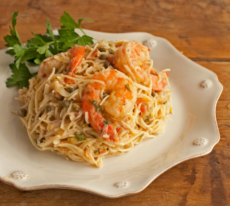 Shrimp Capellini with Gorgonzola-Garlic Butter Sauce ...