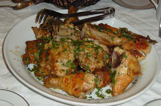 Chicken in Red Wine Vinegar Sauice