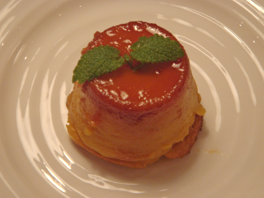Italian Sweet Potato Creme Caramel with Cointreau