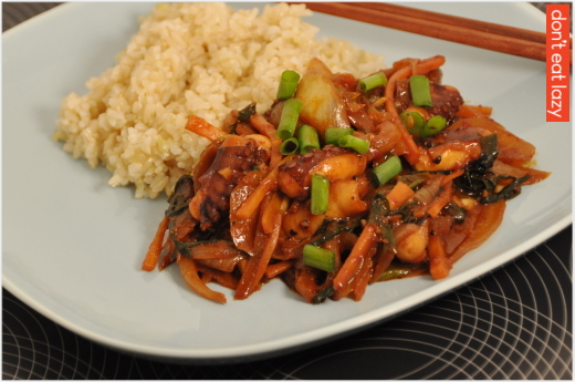 Nakji Bokkeum (Korean style octopus in Spicy Sweet Sauce)