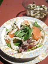 Grilled Squid with Fennel and Grapefruit