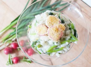 Spring Risotto with Pan-Fried Radishes