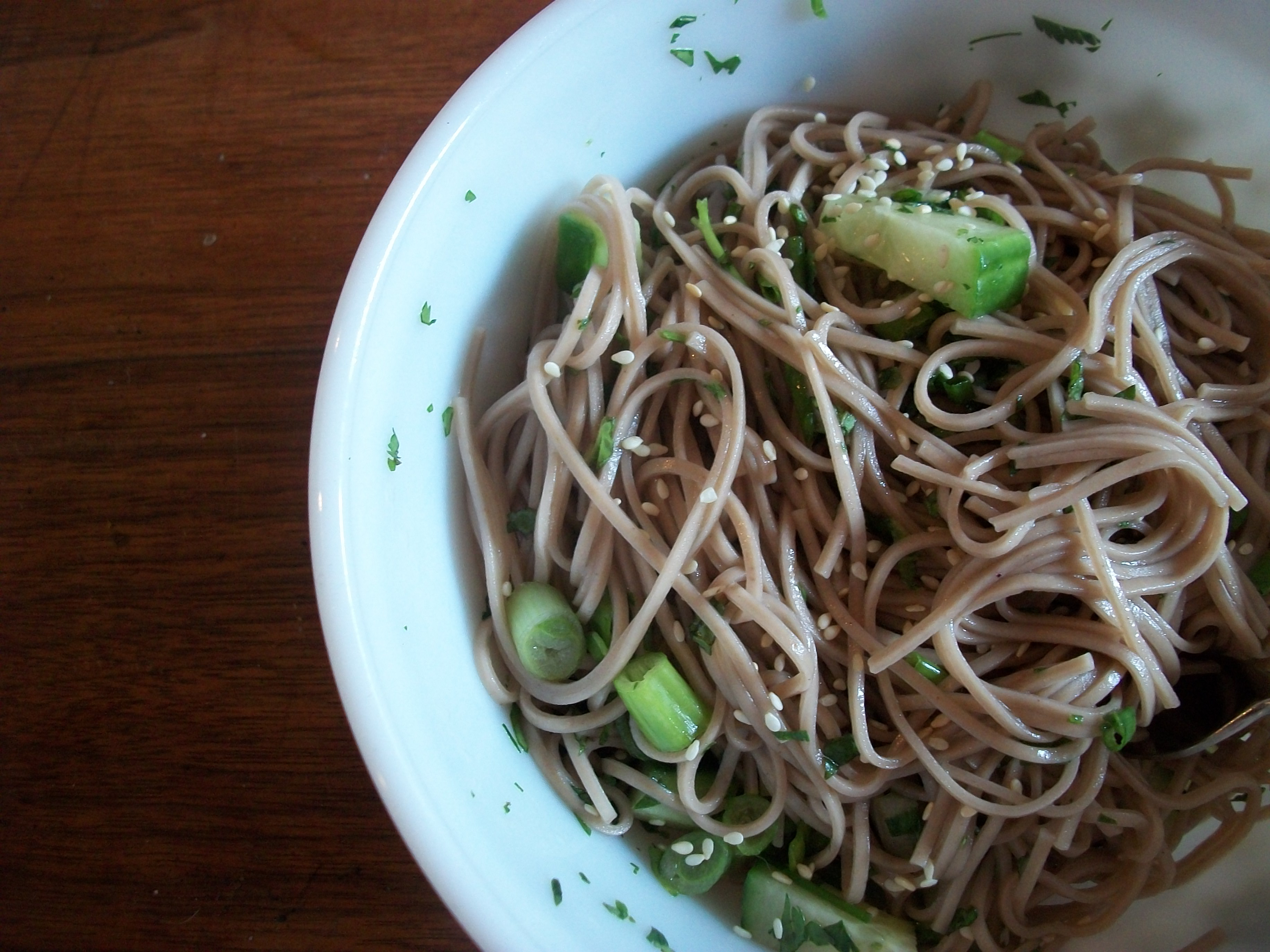 Soba Noodle Salad with Spring Herbs