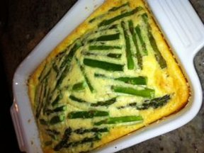 Asparagus Clafoutis