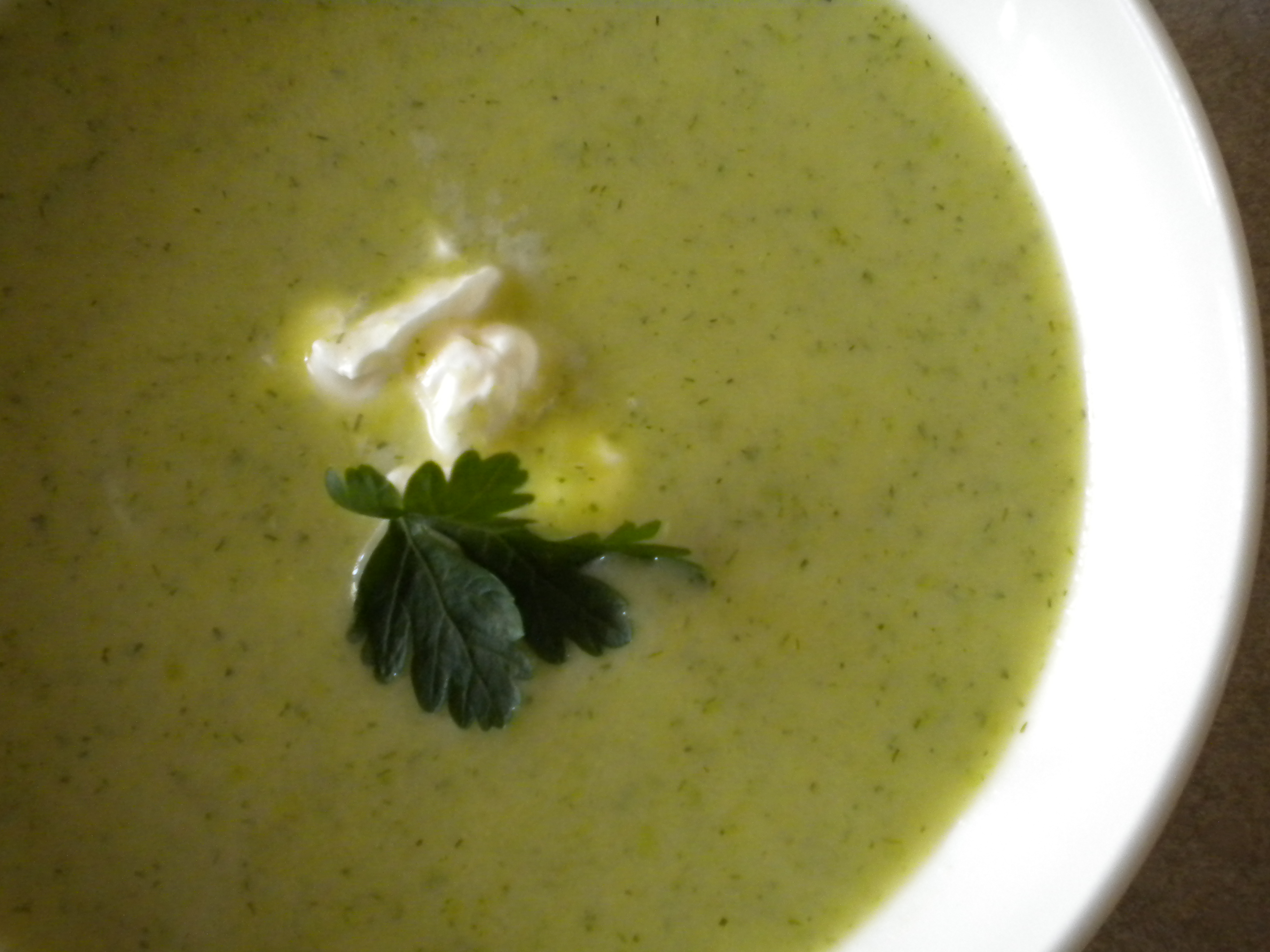 Roasted Asparagus Soup with Lovage and Dill