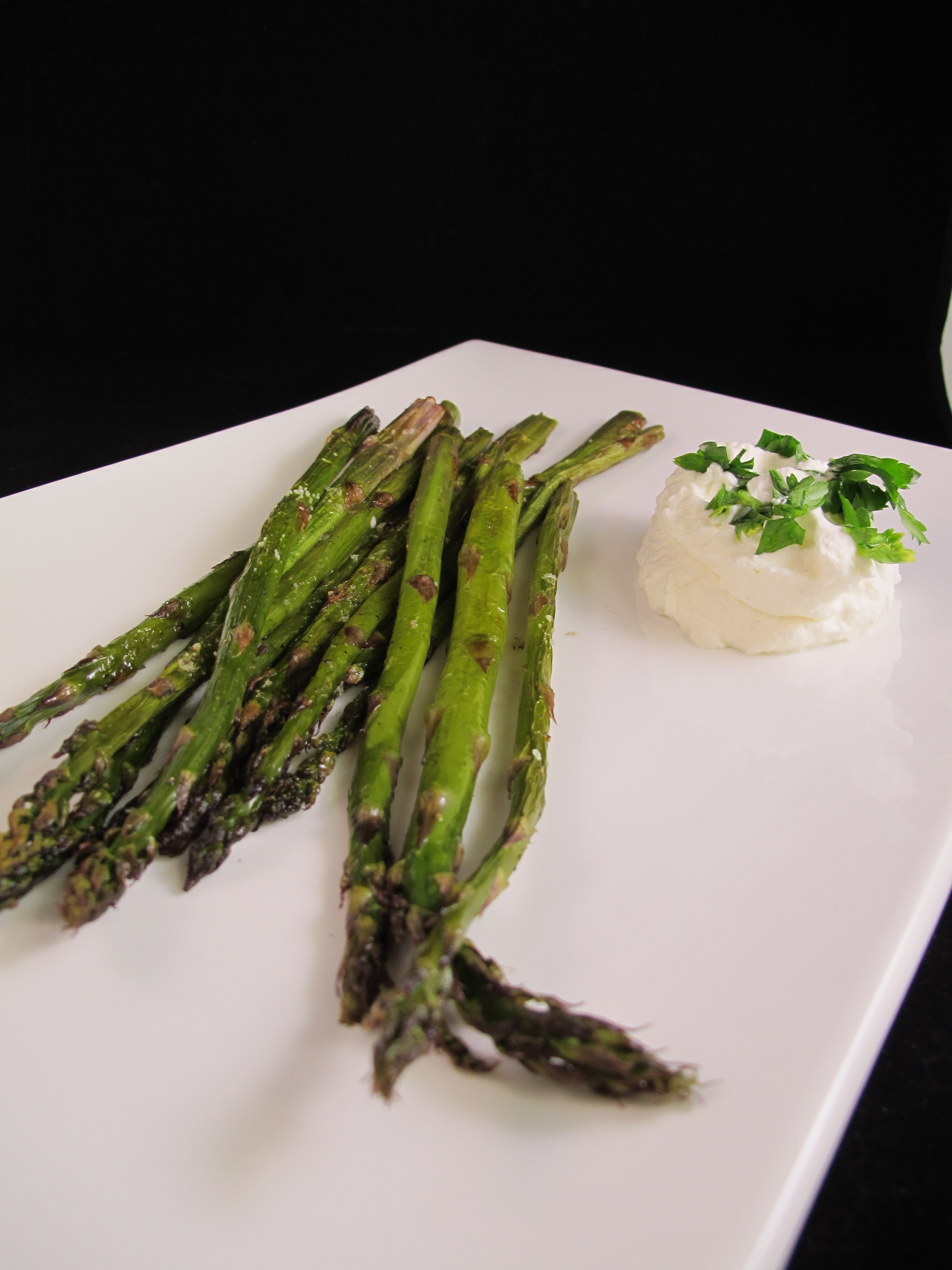 Roasted Asparagus with Lemon Cream