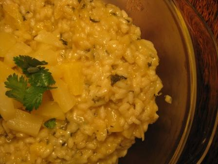 Pineapple Cilantro Risotto