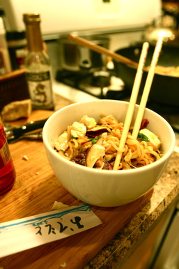 Ramen Stir-fry with Sesame, Shiitake, & Ginger