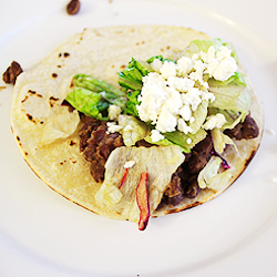 Black Bean Tacos with Cumin and Lime