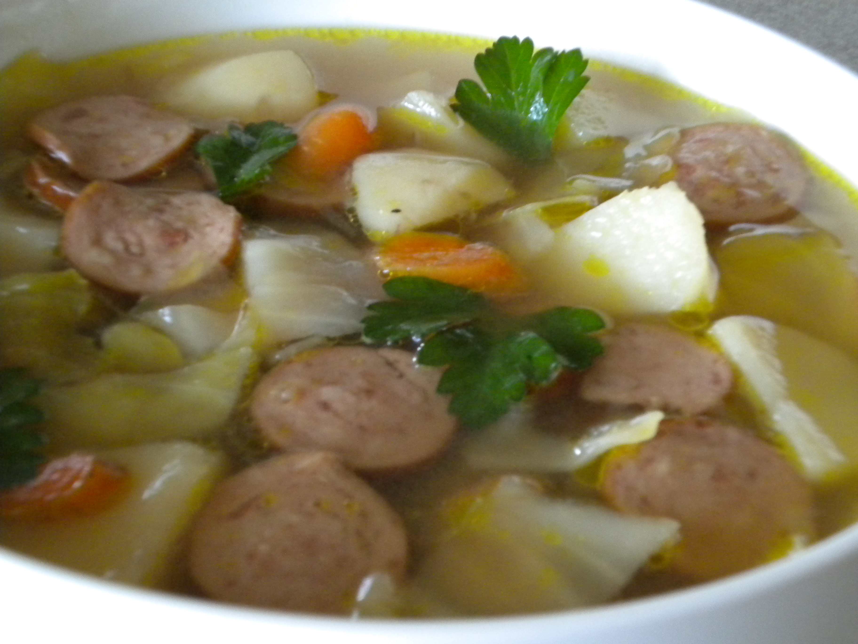 Cabbage Soup with Kielbasa