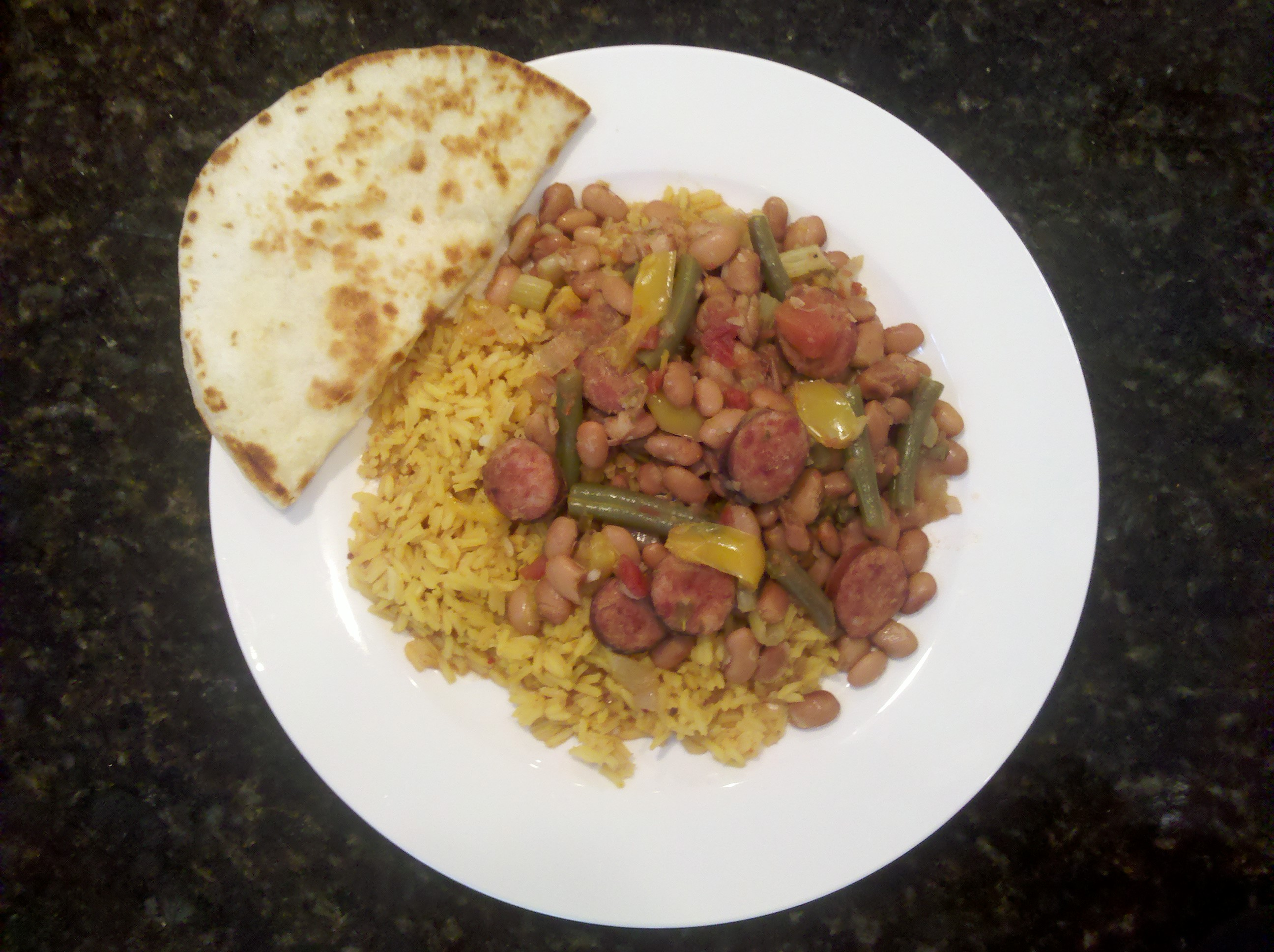 His and Hers Pinto Beans, Sausage and Rice