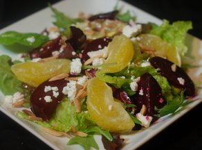 Roasted Beet Salad with Oranges and Goat Cheese