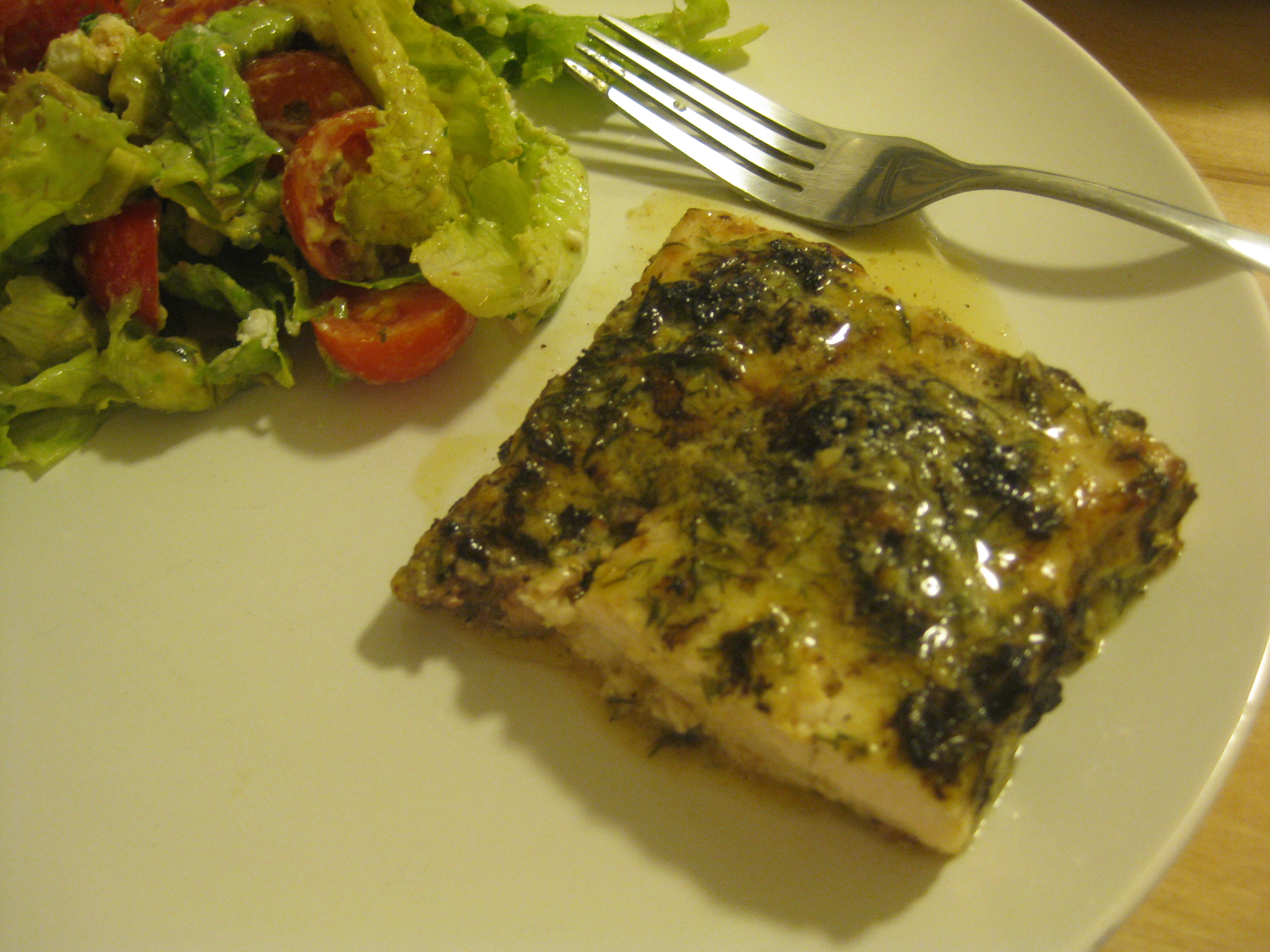 Grilled Swordfish with Lemon Dill Aioli