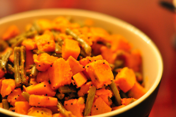 Sweet Potato &amp; Green Bean Sabji
