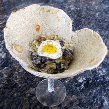 Southwestern Potato Salad with Chia Seeds Roasted Fingerlings and Poblano Aioli