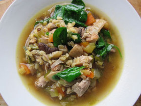 Mushroom, Barley &amp; Chicken Soup