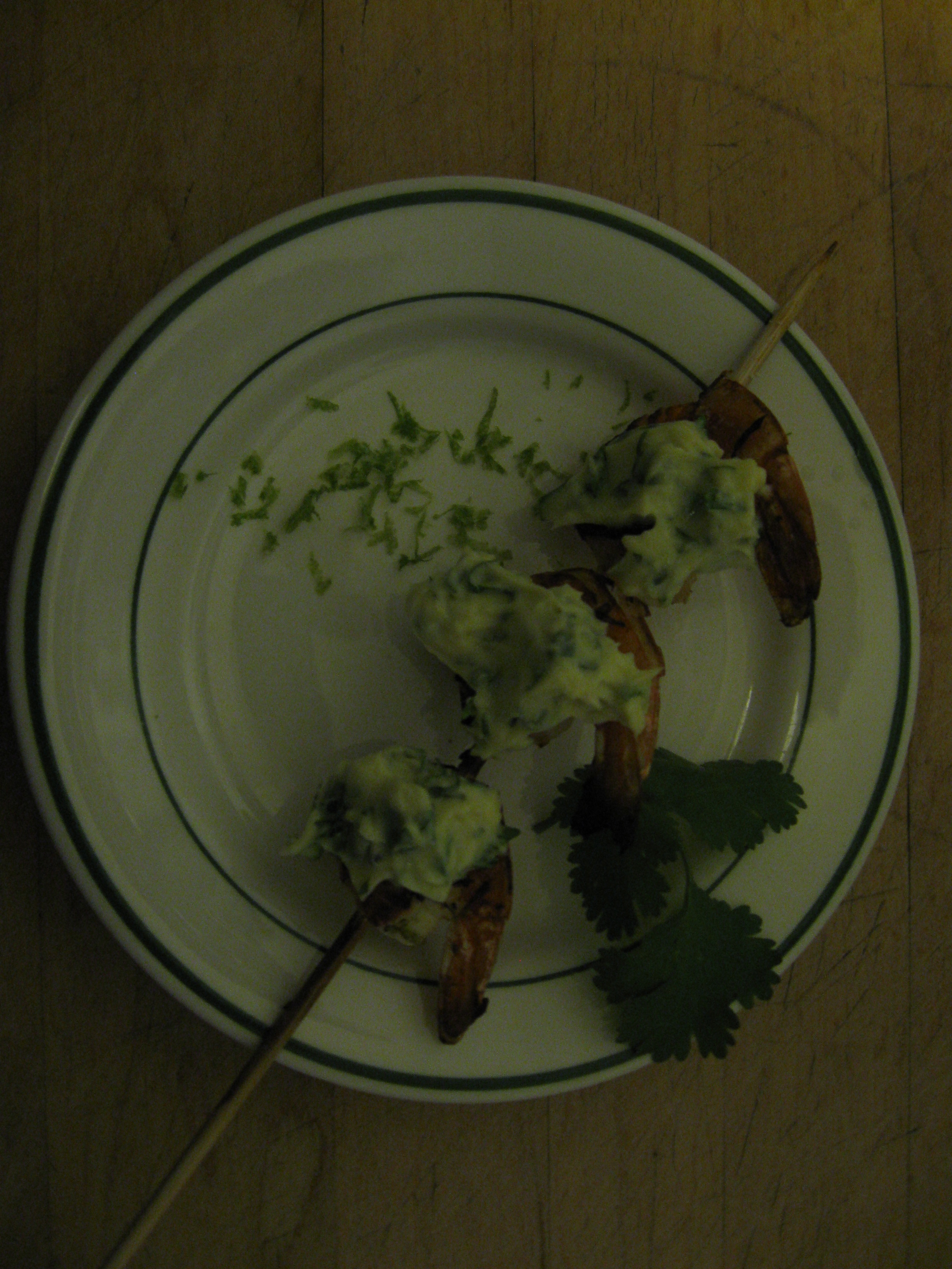 Limey Grilled Shrimp with Cilantro-Lime Aïoli