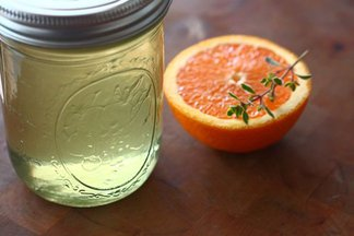 Orange, Cucumber & Lemon Thyme Italian Soda