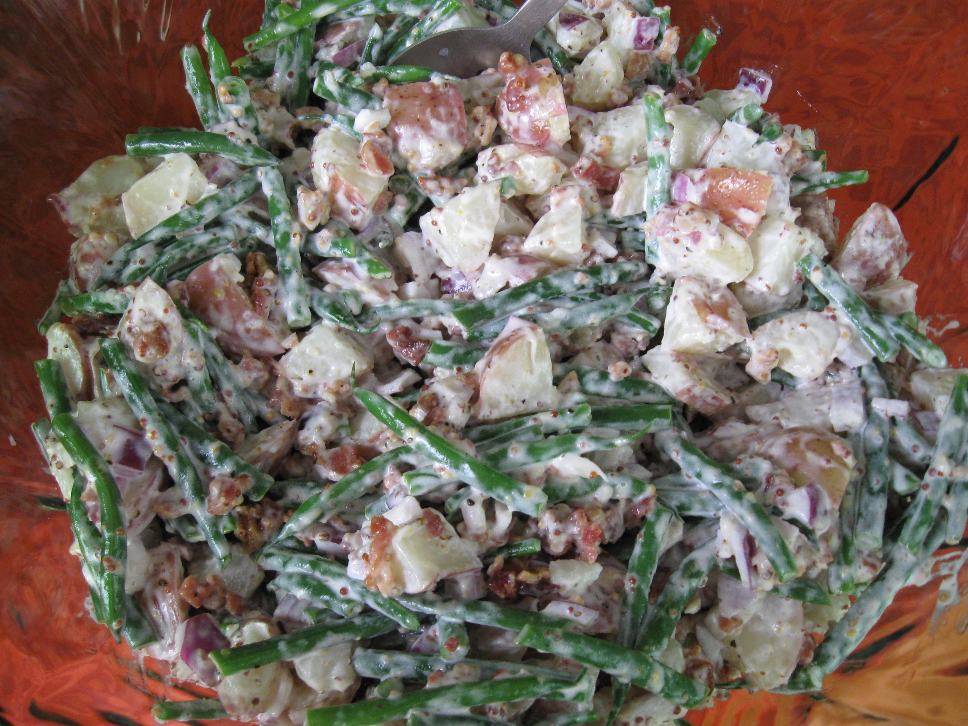 New Potato and Green Bean Salad with Fresh Fennel and Maybe Some Bacon