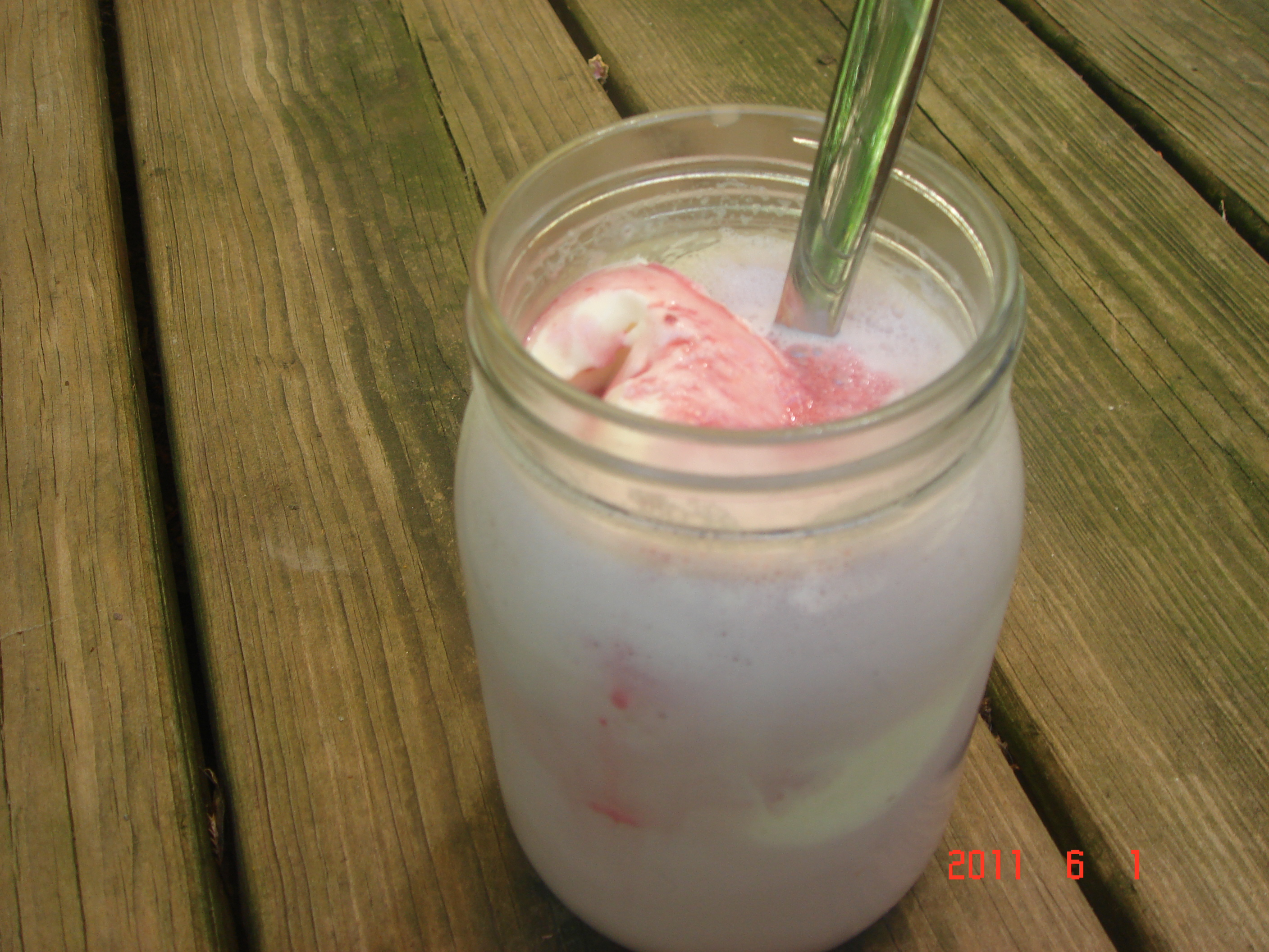 Blackberry Basil Milkshake