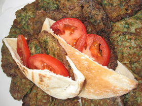  Parsely Fritatta Pita Sandwiches ( Ejjeh Bakdounez)