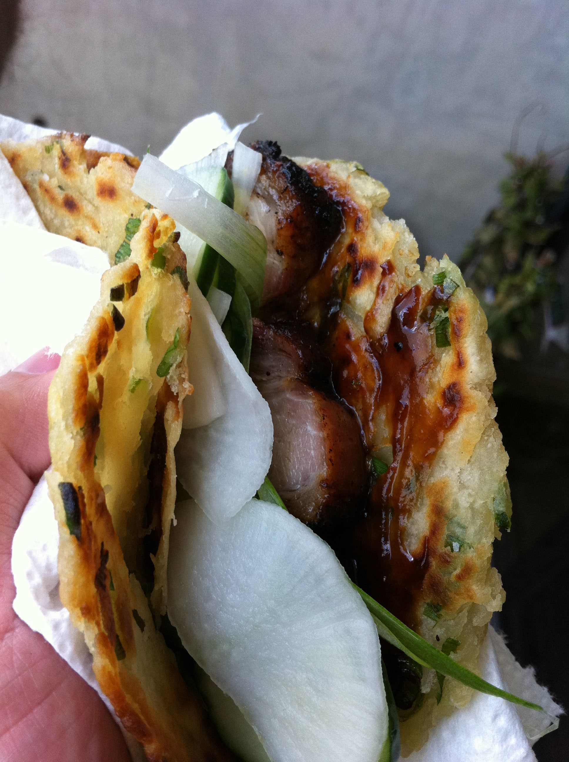 Peking Pork Belly Tacos