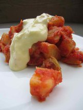 Patatas Bravas with Double Garlic Aioli