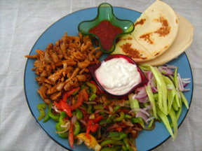 Chicken tikka fajita Shawarma