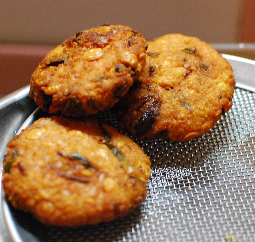 parippu vada or dal vada a common street food of Kerala