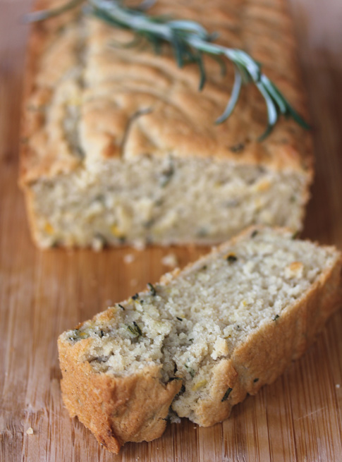 Gluten-free Rosemary Meyer Lemon Quick Bread