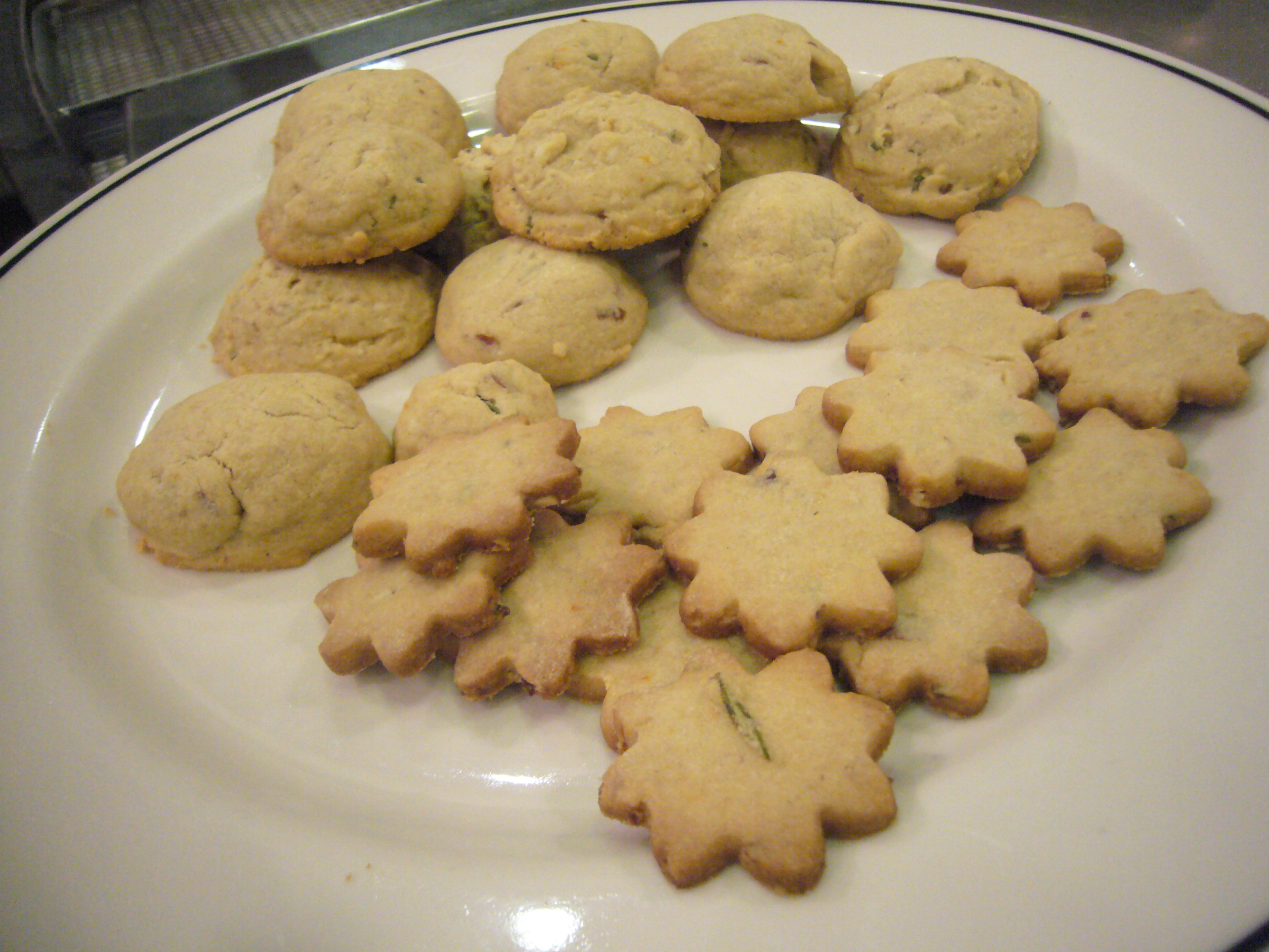 Orange Rosemary Butter Cookies