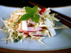 Baby salad turnip, radish and sesame
