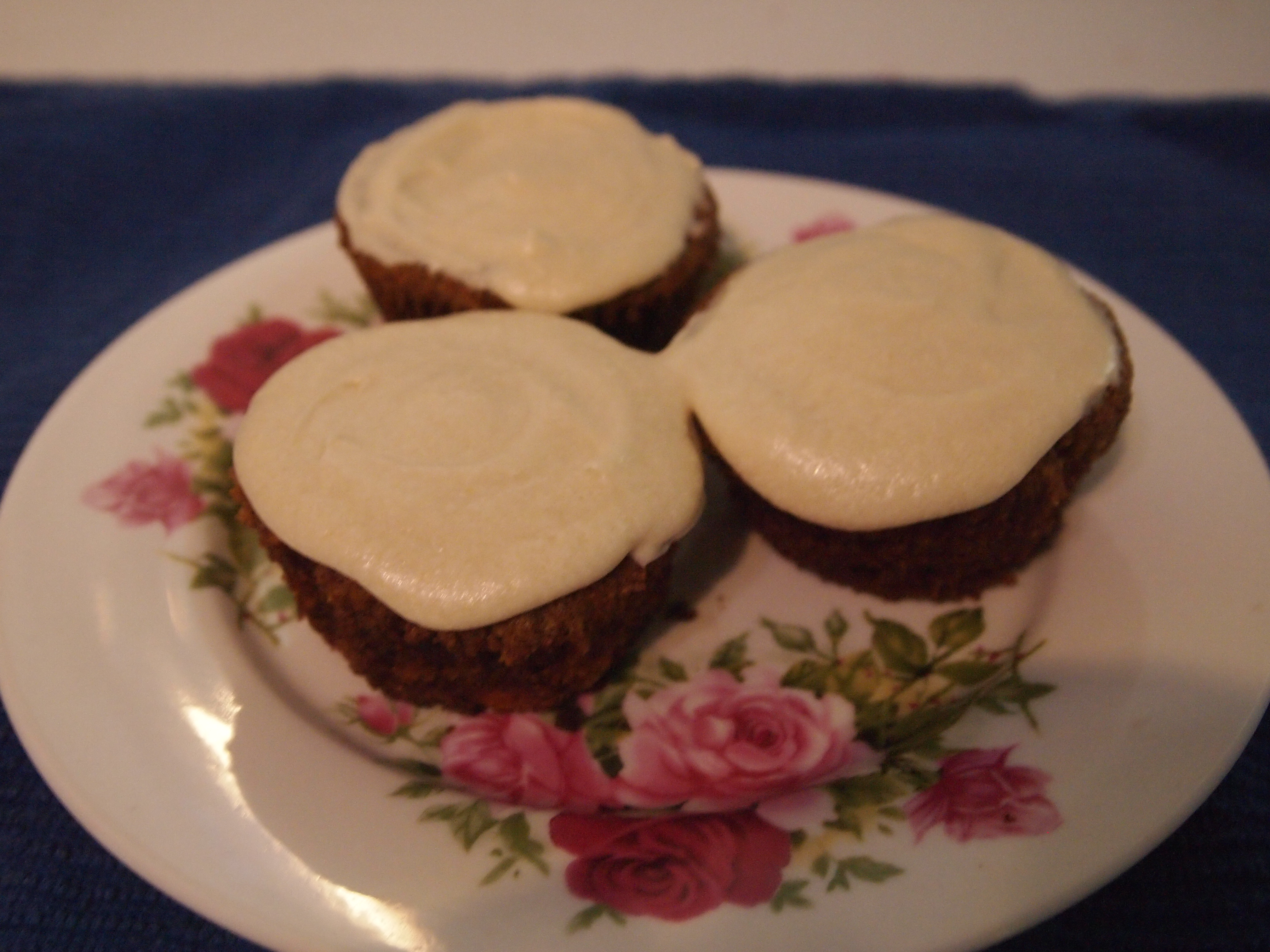 Gluten, Dairy and Egg Free Over-spiced Carrot Cupcakes with Orange Icing