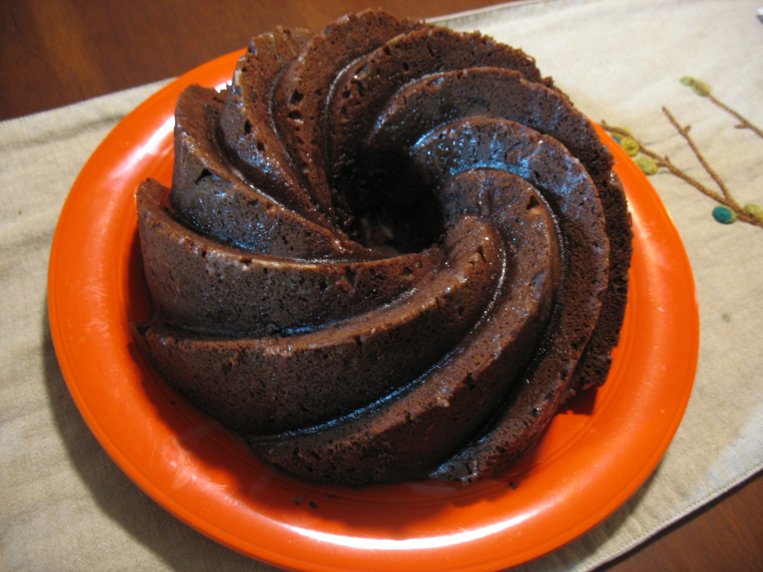 Chocolate Zucchini Rum Cake