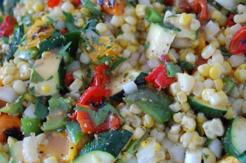 Picnic Party Fresh Corn and Grilled Vegetable Salad