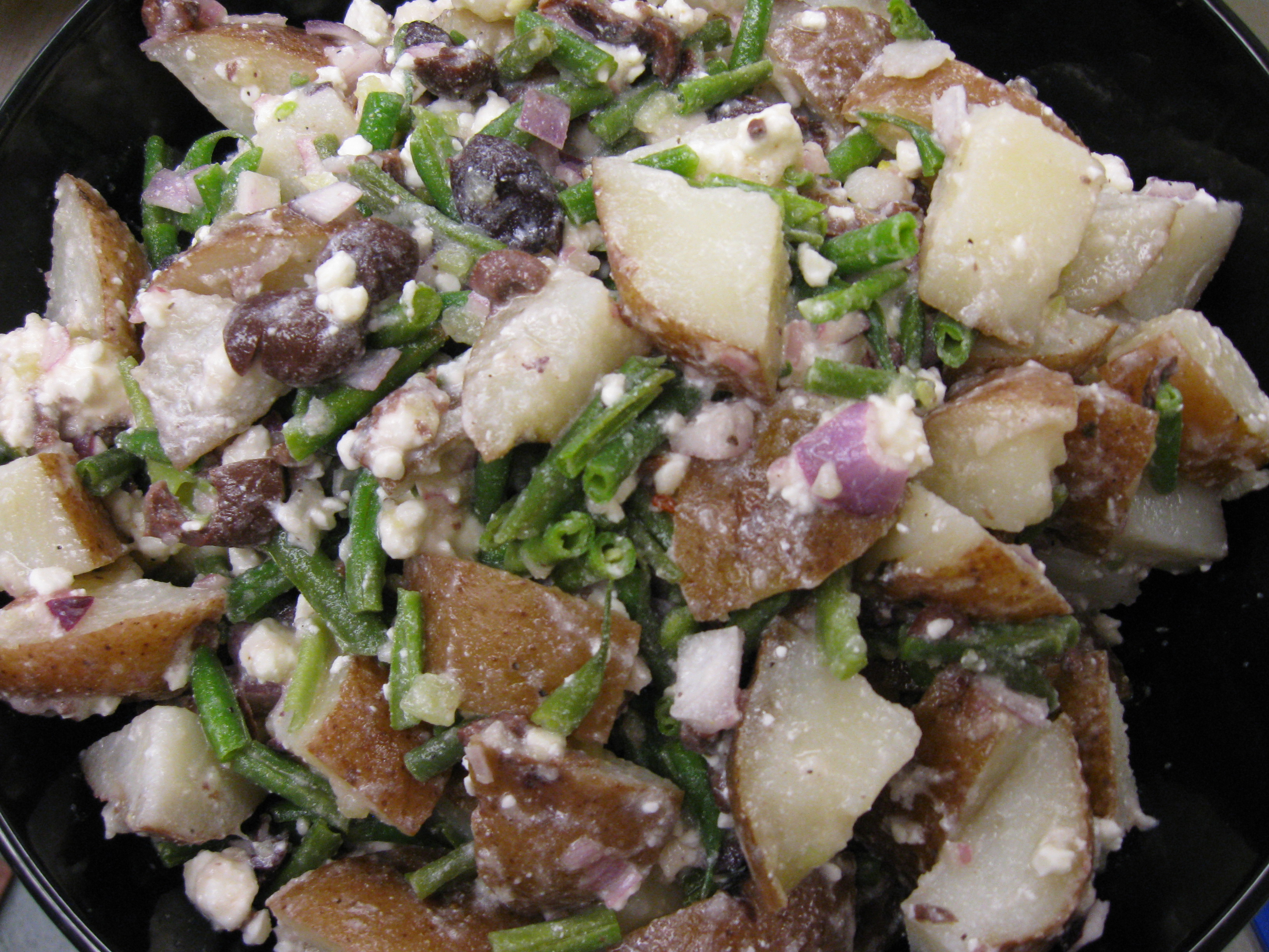 Potato (Plus) Salad with Champagne-Honeydew  Mignonette