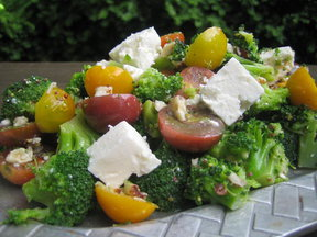Broccoli Feta Tomato Salad