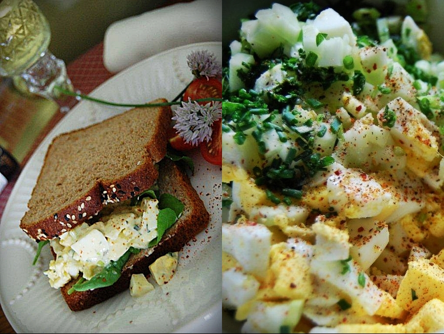 Caesar and Caper Kissed Egg Salad
