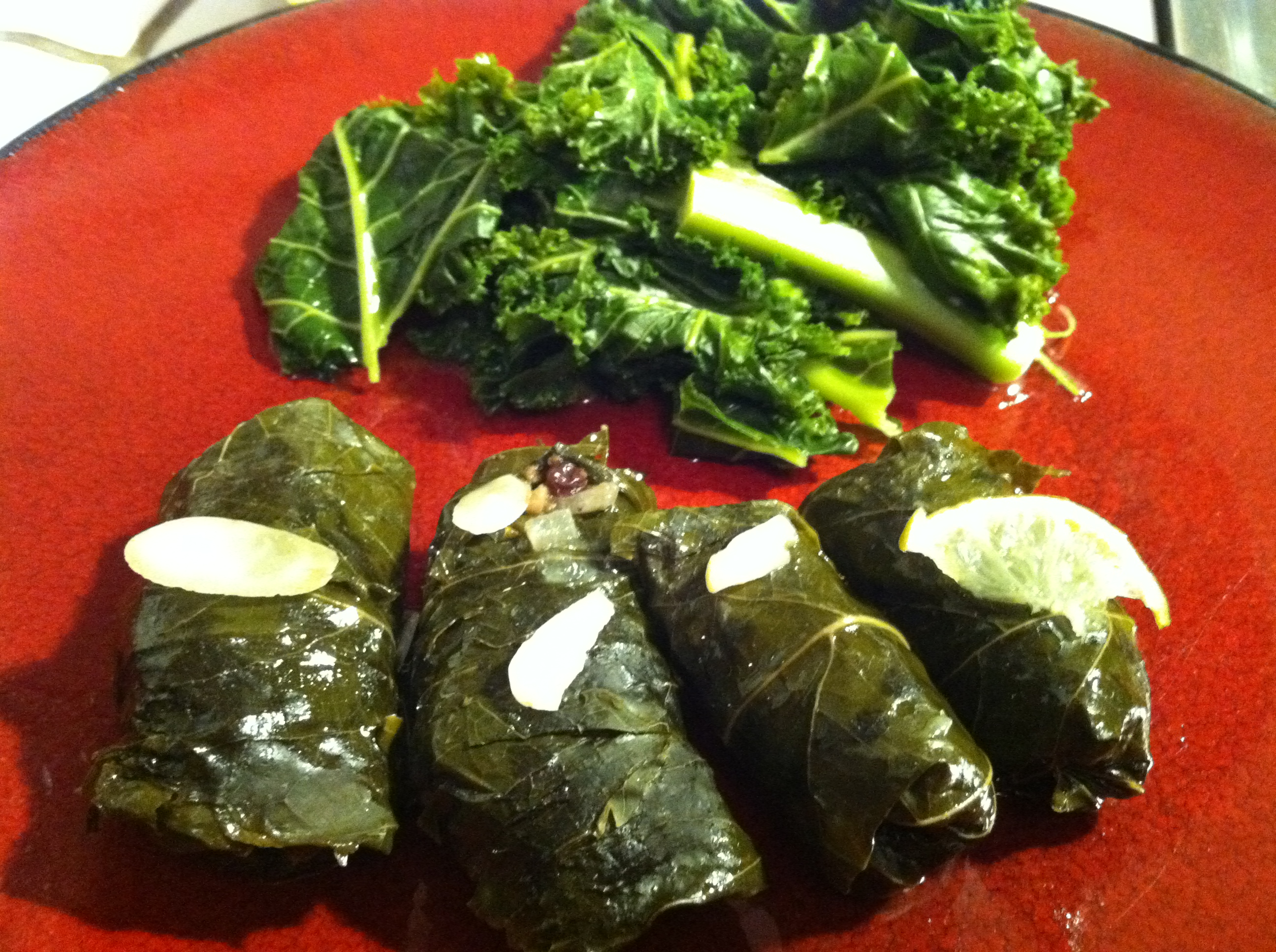 Lamb Dolmas (Stuffed Grape Leaves)