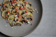 Button Mushroom Salad