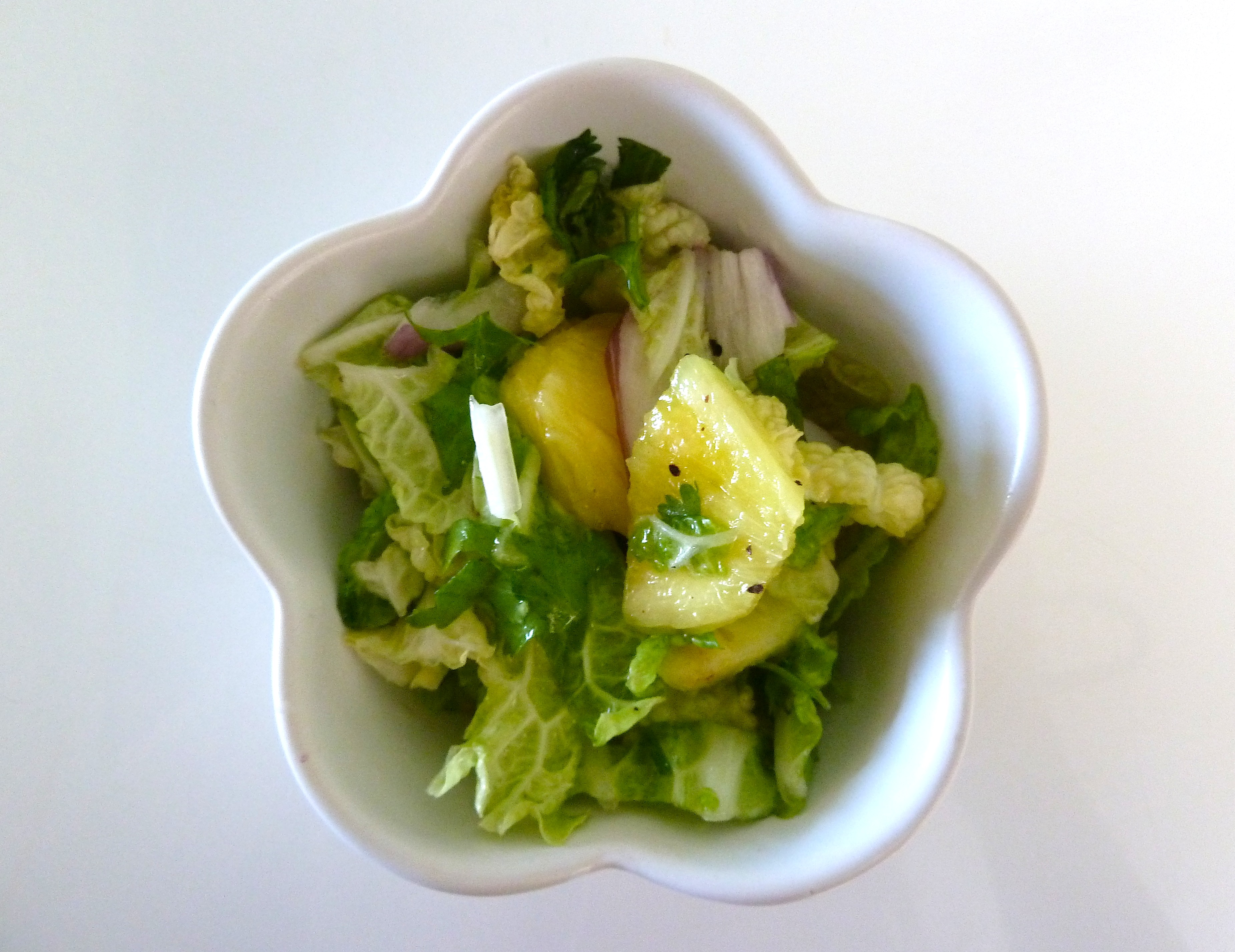 Summertime PineNapa Salad