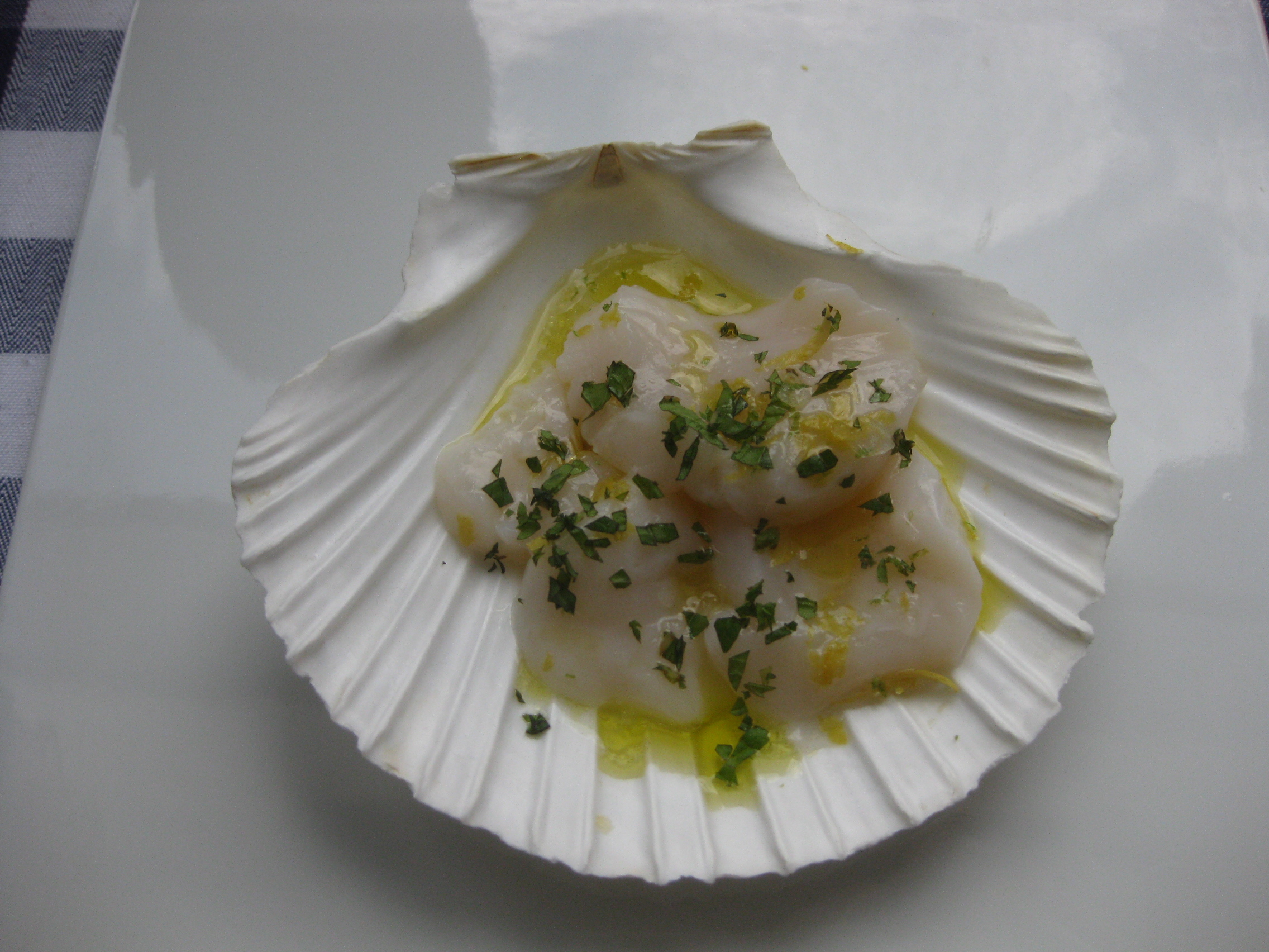 Scallop Crudo with Citrus, Mint and Sea Salt
