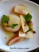 Pistachio Mint Nectarine Salad