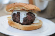 Lamb Burgers with Cilantro Yogurt