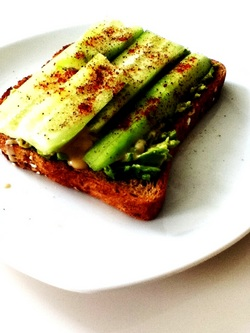 An Extraordinary Cucumber Sandwich