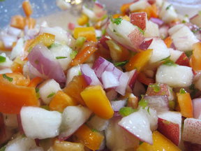 Nectarine-Mint Salsa
