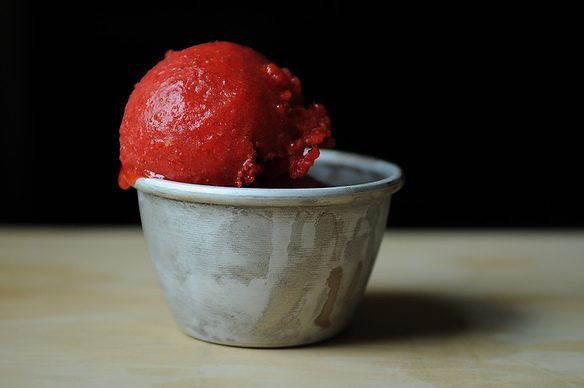 The River Caf&#x27;s Strawberry Sorbet