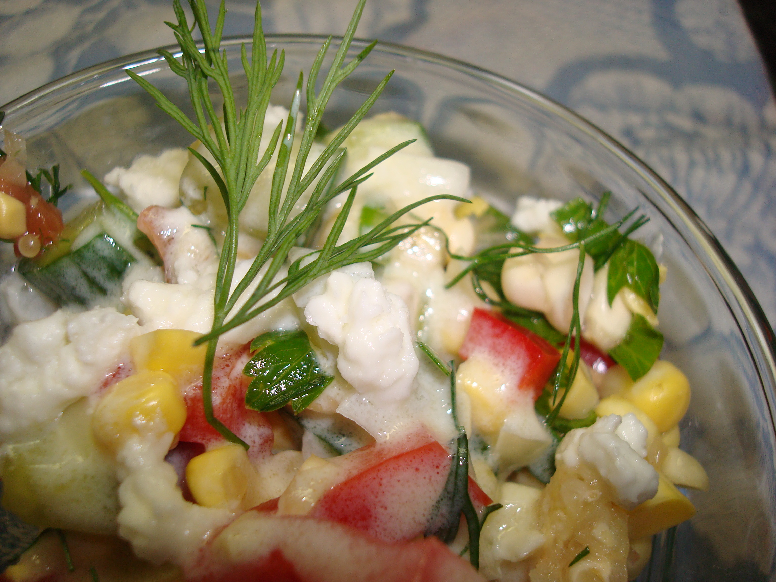 Dilled, Crunchy Sweet-Corn Salad with Buttermilk Dressing